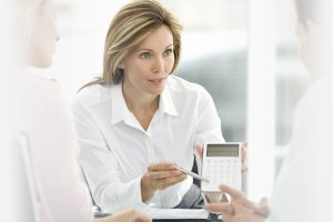 Mortgage Advice from Hodsons woman showing calculations