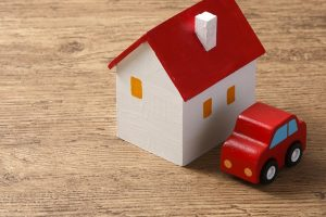 new home Purchase Process - Mobile toy house and car