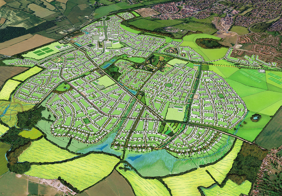 Chilmington Green site plan Houses for sale