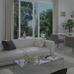 living room with terrace Houses for sale