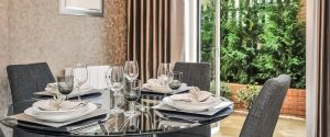 dining room Grosvenor Mansions at Viridium