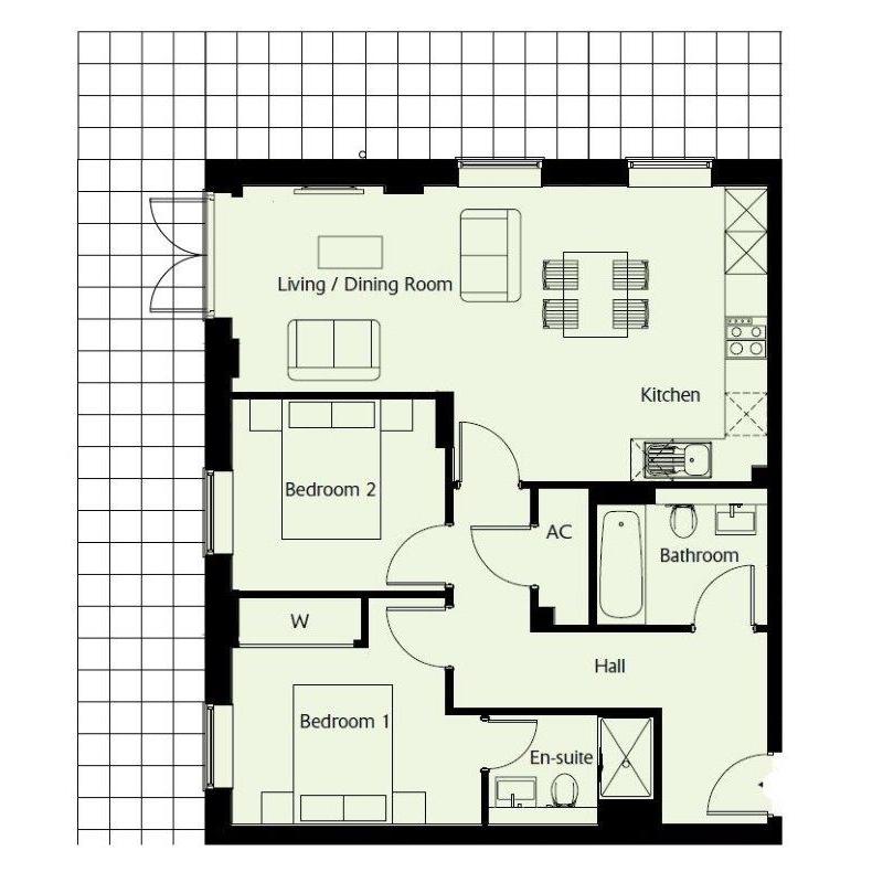 Floorplan Plot 60 - Grosvenor Mansions at Viridium