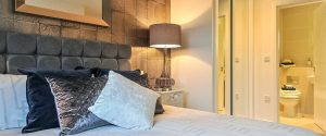 Bedroom with en suite The Fitzroy Collection, Bracknell from Hodson Developments