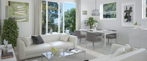 living room dining area The Fitzroy Collection by Hodson Developments