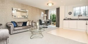 Kitchen living room Quality flooring from Hodson Developments