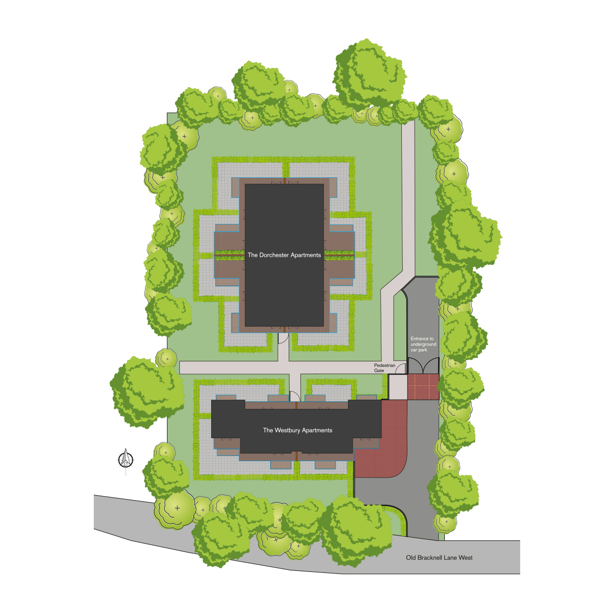 The Fitzroy Collection from Hodson Developments site plan