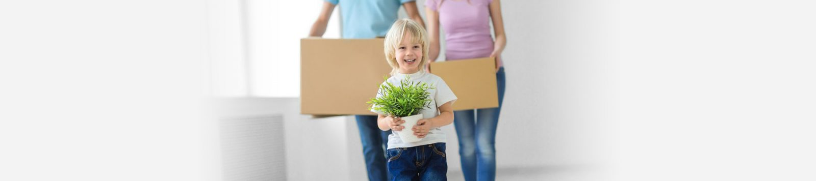 Child holding plant Buying a New Hodson Developments home